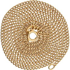 18 kt – Yellow gold curb link necklace – Length: 67 cm.