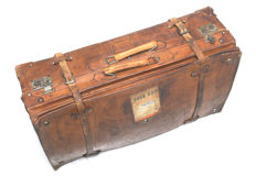 Antique leather travel case - first half of 20th century.