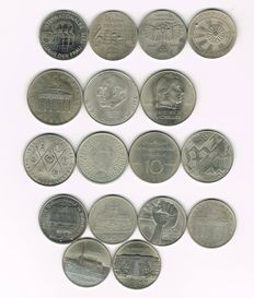 DDR - 17 Various Coins