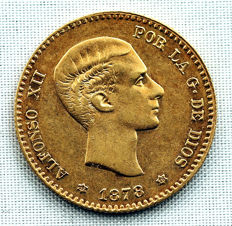 Spain – Alfonso XII – 10 pesetas gold coin – 1878 – Madrid
