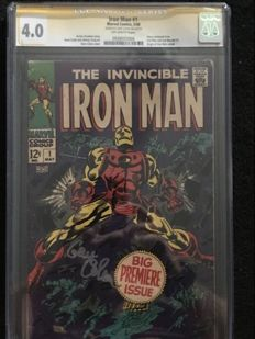 Marvel Comics - The Invincible Iron Man #1 - CGC Graded 4.0 - Signed By Gene Colan - (1968)