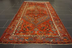 Old, highly valuable Persian carpet- -Hamadan Malayer- -Made in Iran- -130 × 220 cm