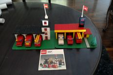 Legoland - 347 + 357 - Fire Station + Fire Station with Mini Cars