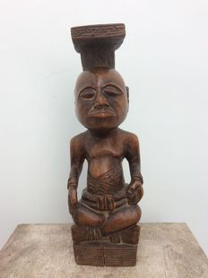 Seated figure-KUBA-Ex. Belgian Congo
