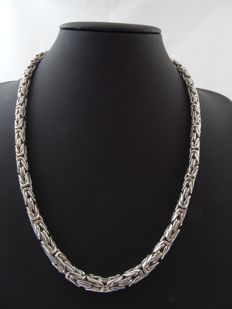 Silver 925 kt king´s braid necklace - 57.5 cm
