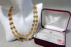 Camrose & Kross - JBK - JACKIE BOUVIER KENNEDY - Anchor Link Necklace with Box & Certificate of Authenticity