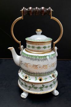 Sèvres - hand-painted teapot on stove