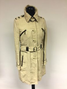Etro - trench coat with leather