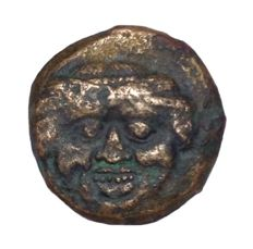 The Greek Antiquity - Sicily, Kamarina,  c. 420-405 BC - Æ Bronze Onkia (13mm; 2,48g.) - Gorgoneion / Owl - CNS 22; HGC 2, 553.