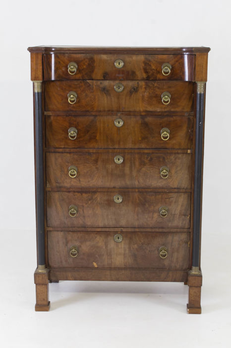 Empire mahogany chiffoniere - The Netherlands -19th century