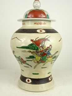 Nanking vase with lid – China – mid 20th century