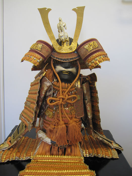 Signed full set of finest Japanese samurai armour for children's day - Japan - 1950'ies
