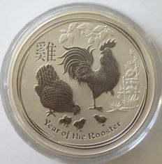 Australien - 30 Dollars 2017 'Year of the Rooster' - 1 kg Silber