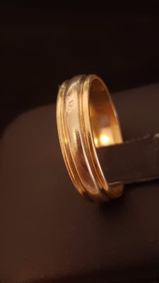 White and yellow 18 kt gold ring - diameter 17.75 mm.