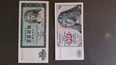 Germany - East and West - 27 currency notes of Germany (post-war)