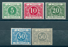 Belgium 1916 – Surcharge stamps modified type – OBP TX12/16