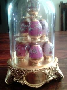 """House of Faberge """" Ruby Garden"""" from The House of Faberge & Franklin Mint"""