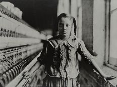 Lewis W. Hine (1874-1940) - Ten year old spinner in cotton mill - North Carolina - 1908