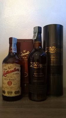 Ron Zacapa Centenario Solera Gran Reserva 'Edición Negra' from Guatemala & Ron Matusalem Solera Gran Reserva 15 Years from Dominican Republic - 2 bottles in total