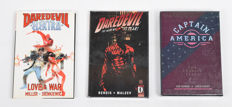 Marvel Comics - Captain America (2 Books In Slip Case) + Daredevil Elektra Love & War + Daredevil Volume 4 - HC - (1990/2005)