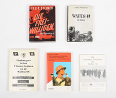 WW II; Lot with five books about the Waffen-SS 1953/1995