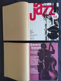 Jazz magazines; 45 bound issues of Down Beat and Jazz Hot - 1961/1966
