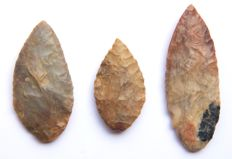 3 Neolithic leaf points from Niger - 50-80 mm (3)