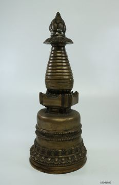 Detailed Stupa, bronze - Tibet - second half 20th century