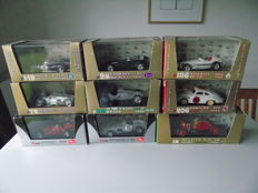 Brumm / Art Model - Scale 1/43 - Lot of 9 models of different brands