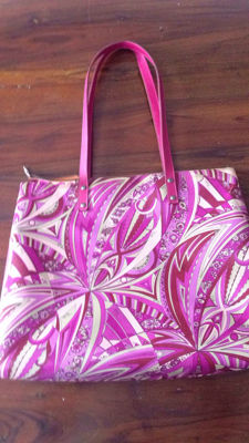 Emilio Pucci – large beach / shopper bag – fuchsia – 1970s – ***No reserve price***
