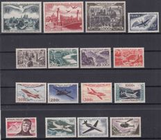 France airmail 1947/1959 - lot between Yvert 20 and 37