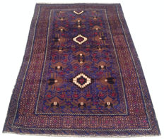 Amazing Afghan Hand Knotted Balouch Herati Area Rug 172 cm x 105 cm