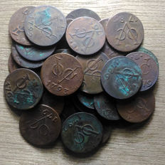 Netherlands East Indies, Utrecht + Gelderland - Duit 1746/1793 V.O.C (32 pieces)