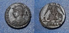 Roman Imperial - Constantine the Great, Rare Æ3, circa A.D. 333-335,  Victory on prow l., holding sceptre and shield;