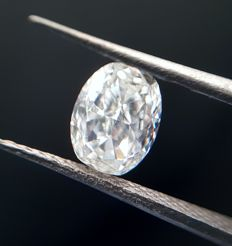 1.03 carats, White Oval Modified Brilliant Diamond, J-SI 1- FREE SHIPPING