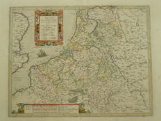 The Netherlands, Belgium, Luxembourg; G. Mercator / Henricus Hondius - Belgii inferioris descriptio emendata (...) - 1623