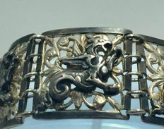 French silver bracelet marked - BAUDET - ca. 1882-1935