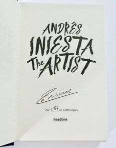 Andres Iniesta - FC Barcelona Signed Limited Edition Book - Limited Edition 187 / 1000
