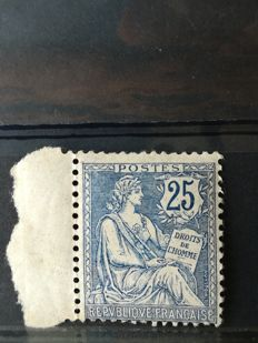 France 1902 – Mouchon 25 ct, blue – Yvert 127