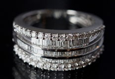 Diamond Layer Ring - with a total of 0.93 ct - Size 6.5  Size EU 17/ 17 mm