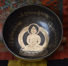 Hand-hammered Buddha Singing Bowl – Nepal – late 20th century