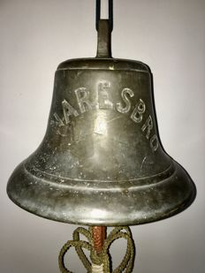 Bronze ship's bell from the SS Knaresbro (1923)