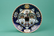 Rozenburg - Commemorative plate/Earthenware 'Vredespaleis'
