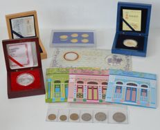 World - 9 different coin sets - w.o. silver