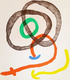 Joan Miró - Two works from Maeght Gallery