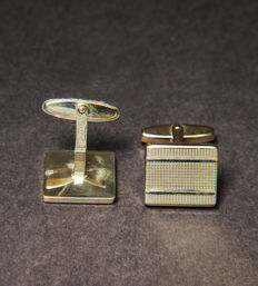 Masculine 8K / 333 yellow gold cuff links - No Reserve Price