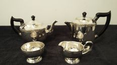 Viners of sheffield alfa plate coffe tea pot set/milk jug sugar bol silver plated made in england.
