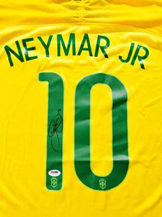 Neymar JR / Brasil - Signed Home Jersey -  with Certificate of Authenticity PSA/DNA