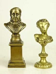 Two bronze figurines - France - late 19th century