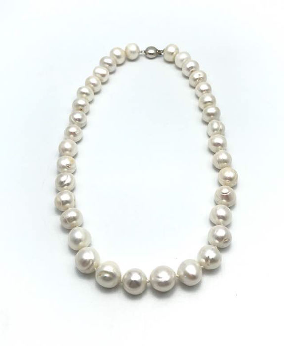 12 mm Salt water Baroque pearl necklace